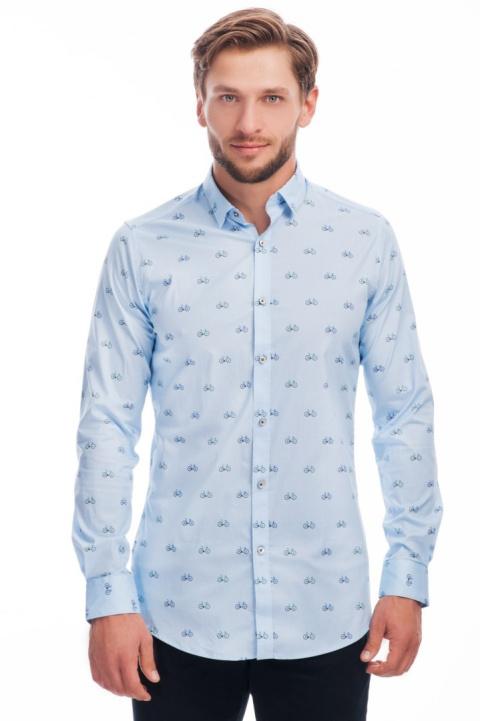 Koszula męska ombre gradient dwukolorowa biała S 8587616077  N3j2c